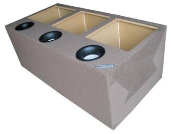 "Ground Shaker GSPKK315 Triple 15"" Square Subwoofer Ported Box (L5/L7)"
